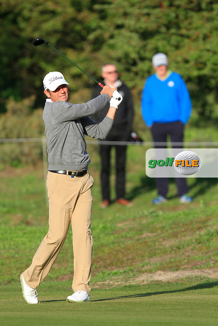 Sven Struver (GER) on the 2nd fairway during Round 1 of the 2015 KLM Open at the Kennemer Golf &amp; Country Club in The Netherlands on 10/09/15.<br /> Picture: Thos Caffrey | Golffile