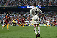 Uefa Champions League football match Real Madrid vs AS Roma at the Santiago Bernabeu stadium in Madrid on September 19, 2018.<br /> <br /> Carvajal