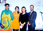 """With Compliments   Free Pics<br /> Edwina Nyhan - head of Finance Bord Gais Networks presents Caroline Martin with the award for 'Best Overall Coillection Based on Use of Fabric and Concept Development""""  with James Greenslade - Head of Design LSAD pictured at the Bord Gais sponsored Annual Limerick School of Art and Design (LSAD)  Graduate Fashion Show, hosted in Limericks historic Milk Market.<br /> Pic. Brian Arthur/ Press 22"""