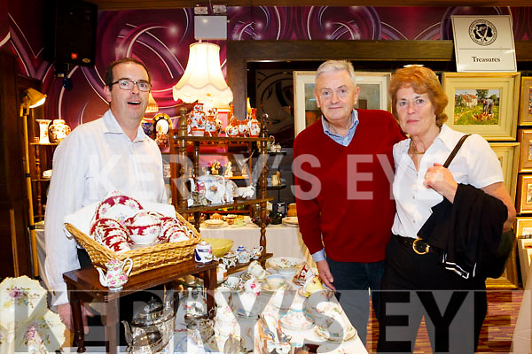 Enjoying the Antique Fair at the Grand Hotel were Brian Healy, Vincent Carney and Brid Carney