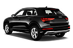 Car pictures of rear three quarter view of 2019 Audi Q3 Advanced 5 Door SUV Angular Rear