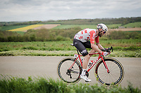 Tomasz Marczyński (POL/Lotto-Soudal) solo's ahead<br /> <br /> 83rd La Flèche Wallonne 2019 (1.UWT)<br /> One day race from Ans to Mur de Huy (BEL/195km)<br /> <br /> ©kramon