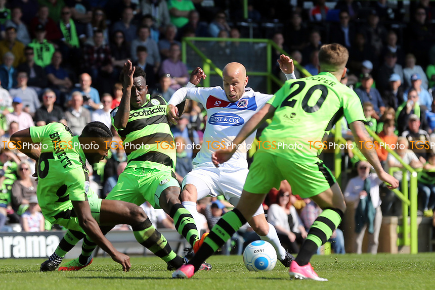 Charlie Cooper of Forest Green Rovers and Luke Guttridge of Dagenham and Redbridge during Forest Green Rovers vs Dagenham & Redbridge, Vanarama National League Play-Off Football at The New Lawn on 7th May 2017