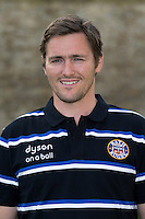 Matt Powell poses for a portrait at a Bath Rugby photocall. Bath Rugby Media Day on August 28, 2014 at Farleigh House in Bath, England. Photo by: Rogan Thomson for Onside Images