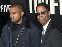 NEW YORK CITY, NY, USA - DECEMBER 03: Kanye West, Chris Rock arrive at the New York Premiere Of 'Top Five' held at the Ziegfeld Theatre on December 3, 2014 in New York City, New York, United States. (Photo by Celebrity Monitor)