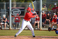 Ohio State Buckeyes outfielder Joe Ciamacco #4 at bat during a game against the South Dakota State Jackrabbits at North Charlotte Regional Park on February 23, 2013 in Port Charlotte, Florida.  Ohio State defeated South Dakota State 5-2.  (Mike Janes/Four Seam Images)