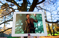 Pictured: Filming of Da Vinci's Demons at Margam Park, south Wales.<br />