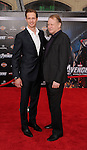 HOLLYWOOD, CA - APRIL 11: Alexander Skarsgard and father Stellan Skarsgard attend the World premiere of 'Marvel's Avengers' at the El Capitan Theatre on April 11, 2012 in Hollywood, California.