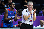7th September 2017, Fenerbahce Arena, Istanbul, Turkey; FIBA Eurobasket Group D; Russia versus Great Britain; Head Coach Joe Prunty of Great Britain reacts during the match