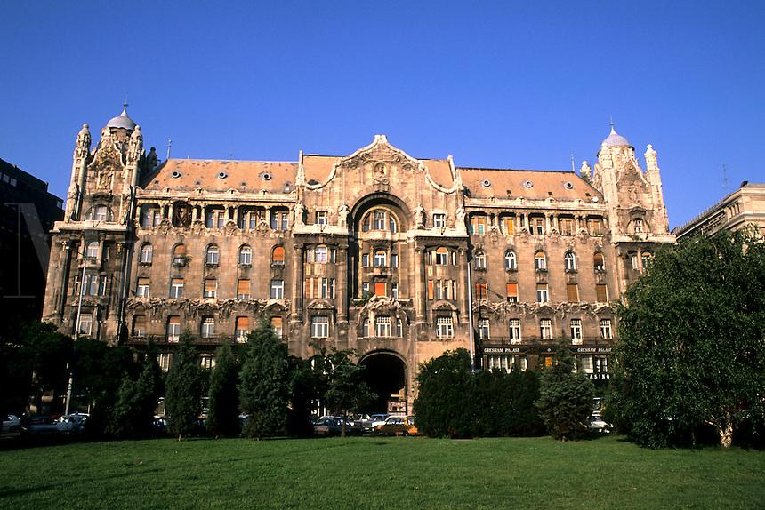 Budapest Hungary colorful Gresham Palace.