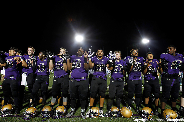 Chisholm Trail defeats Eaton 59-47 in district 6-5A high school football at Ranger Stadium in Fort Worth on Friday, October 7, 2016.