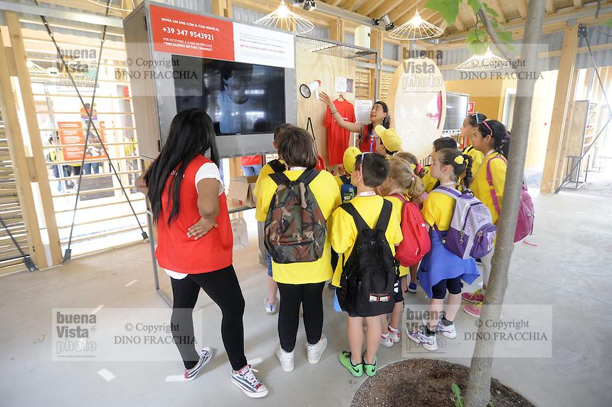 - Milano, Esposizione Mondiale Expo 2015, padiglione dell'organizzazione Save the Childrens<br /> <br /> - Milan, the World Exhibition Expo 2015, pavilion of the organization Save the Childrens