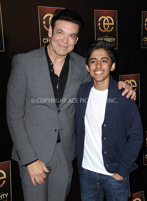 WWW.ACEPIXS.COM<br /> <br /> January 7 2015, LA<br /> <br /> (L-R)  George Caceres and Karan Brar attending 'The Celebrity Experience Panel' event at the Hilton Universal Hotel on January 7, 2015 in Los Angeles, California. <br /> <br /> <br /> By Line: Peter West/ACE Pictures<br /> <br /> <br /> ACE Pictures, Inc.<br /> tel: 646 769 0430<br /> Email: info@acepixs.com<br /> www.acepixs.com