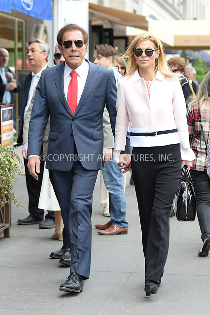 www.acepixs.com<br /> May 11, 2016 New York City<br /> <br /> Steve Wynn and Andrea Hissom seen walking in Midtown Manhattan on May 11, 2016 in New York City.<br /> <br /> Credit: Kristin Callahan/ACE Pictures<br /> <br /> <br /> Tel: 646 769 0430<br /> Email: info@acepixs.com
