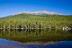 Reflection of Mt Katahdin in Round Pond, Baxter State Park, ME