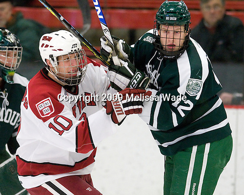 Eric Kroshus (Harvard - 10), Kyle Reeds (Dartmouth - 12) - The Harvard University Crimson defeated the Dartmouth College Big Green 4-1 (EN) on Monday, January 18, 2010, at Bright Hockey Center in Cambridge, Massachusetts.