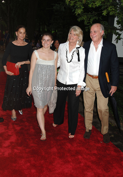 Ali McGraw, Candace Bergen, Daughter Chloe Malle and ..Marshall Rose..arriving at The Public Theatre's Summer Gala honoring Kevin Kline and Meryl Streep at The Opening NIght of MacBeth for Shakespeare in the Park on ..June 28, 2006. ..Robin Platzer, Twin Images