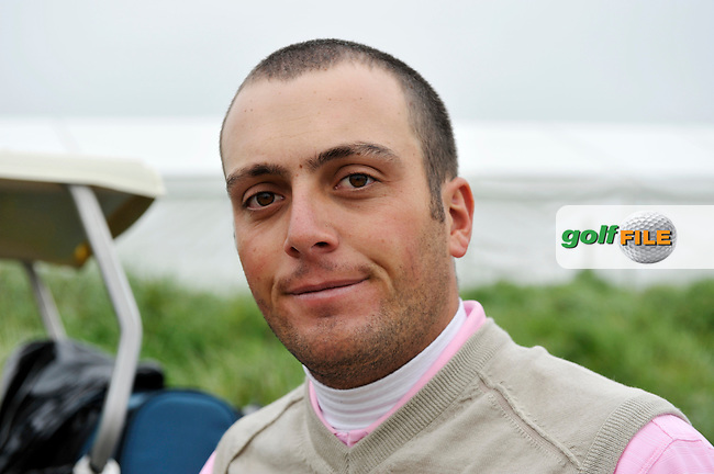 Francesco Molinari, later disqualified, after signing for a wrong score after finishing his play during Round 2 of the 3 Irish Open on 15th May 2009 (Photo by Eoin Clarke/GOLFFILE)