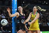 5th October 2017, Spark Arena, Auckland, New Zealand; Constellation Cup, New Zealand Silver Ferns versus Australia Diamonds;   New Zealand's Kelly Jury and Australia's Caitlin Bassett