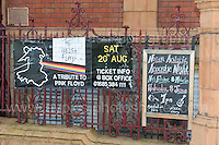 Red House notices of future events during the Merthyr Rising Festival 2016 in Merthyr Tydfil on Saturday June 4th and Sunday June 5th 2016. <br /> <br /> <br /> Jeff Thomas Photography -  www.jaypics.photoshelter.com - <br /> e-mail swansea1001@hotmail.co.uk -<br /> Mob: 07837 386244 -