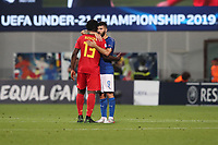 Patrick Cutrone of Italy celebrates at the end of the match<br /> Reggio Emilia 22-06-2019 Stadio Città del Tricolore <br /> Football UEFA Under 21 Championship Italy 2019<br /> Group Stage - Final Tournament Group A<br /> Belgium - Italy<br /> Photo Cesare Purini / Insidefoto