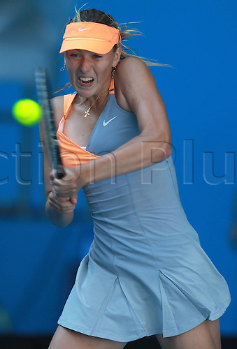 21 01 2011  Mary Sharapova RUS Playing The Third Round of The 2011 Australian Open Women s
