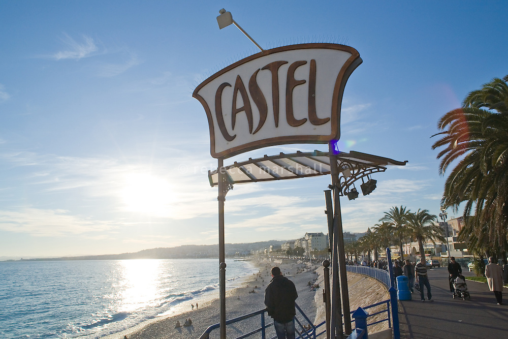 Castel beach, Promenade des Anglais, Nice, France, 8 March 2009