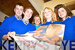 DEBATE: Members of the Presentation Secondary School debating team who won the latest round of the Concern Debates in Milltown on Monday night, l-r: Derwin Myers, Matthew Doncel, Irene Costello (Teacher), Rachel Fitzgerald, Caoimhe Bonner (Captain).