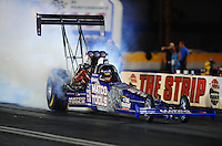 Oct. 31, 2008; Las Vegas, NV, USA: NHRA top fuel dragster driver Antron Brown during qualifying for the Las Vegas Nationals at The Strip in Las Vegas. Mandatory Credit: Mark J. Rebilas-