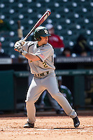 Baylor Bears shortstop Steven McLean (2) at bat during Houston College Classic against the Hawaii Rainbow Warriors on March 6, 2015 at Minute Maid Park in Houston, Texas. Hawaii defeated Baylor 2-1. (Andrew Woolley/Four Seam Images)