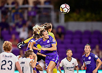 Orlando, FL - Saturday July 07, 2018: Emily van Egmond during the second half of a regular season National Women's Soccer League (NWSL) match between the Orlando Pride and the Washington Spirit at Orlando City Stadium. Orlando defeated Washington 2-1.