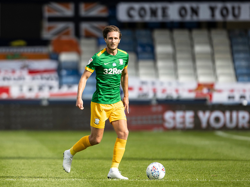 Preston North End's Ben Davies breaks<br /> <br /> Photographer Andrew Kearns/CameraSport<br /> <br /> The EFL Sky Bet Championship - Luton Town v Preston North End - Saturday 20th June 2020 - Kenilworth Road - Luton<br /> <br /> World Copyright © 2020 CameraSport. All rights reserved. 43 Linden Ave. Countesthorpe. Leicester. England. LE8 5PG - Tel: +44 (0) 116 277 4147 - admin@camerasport.com - www.camerasport.com