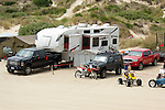 ATV riders camping on the Oregon Dunes