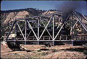 D&amp;RGW #473 on bridge at Gato.<br /> D&amp;RGW  Gato (Pagosa Junction), CO