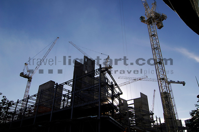 Building site at the River Thames, near Tooley Street and Potter`s Fields, London, England, United Kingdom, Great Britain