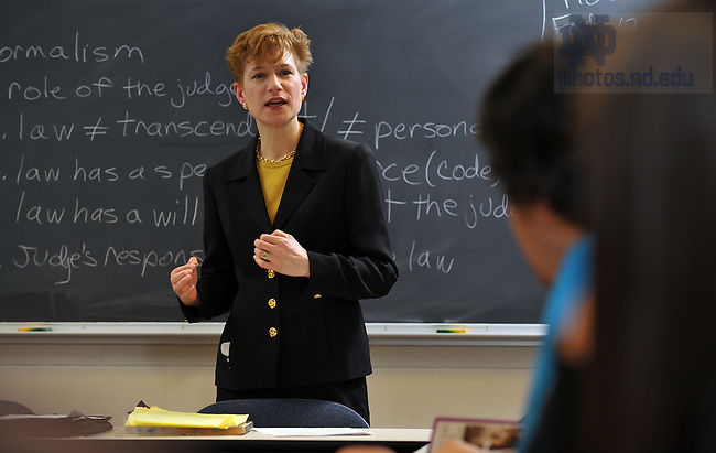 Linda Przbyszewski teaches an undergrad course, 2009...Photo by Matt Cashore/University of Notre Dame