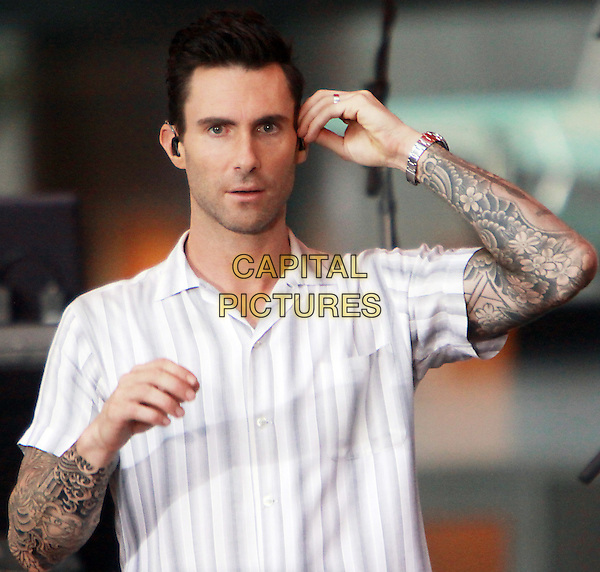 September 01, 2014: Adam Levin of Maroon 5 perform  at NBC's Today Show Concert Series  in New York.<br /> CAP/MPI/RW<br /> &copy;RW/MPI/Capital Pictures