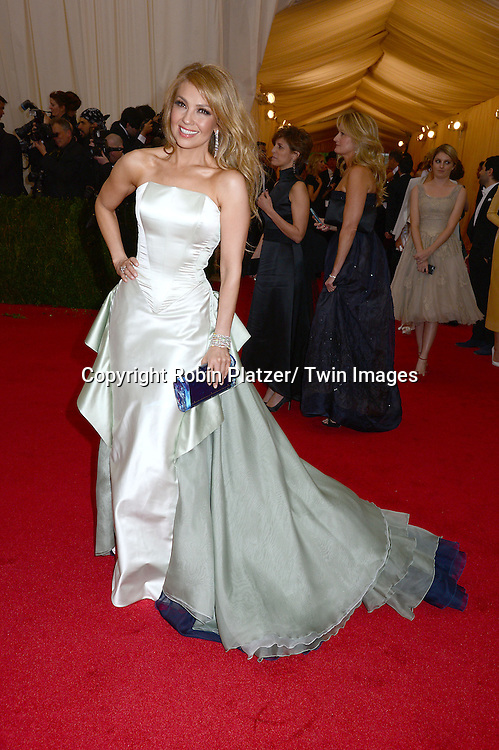 Thalia attends the Costume Institute Benefit on May 5, 2014 at the Metropolitan Museum of Art in New York City, NY, USA. The gala celebrated the opening of Charles James: Beyond Fashion and the new Anna Wintour Costume Center.