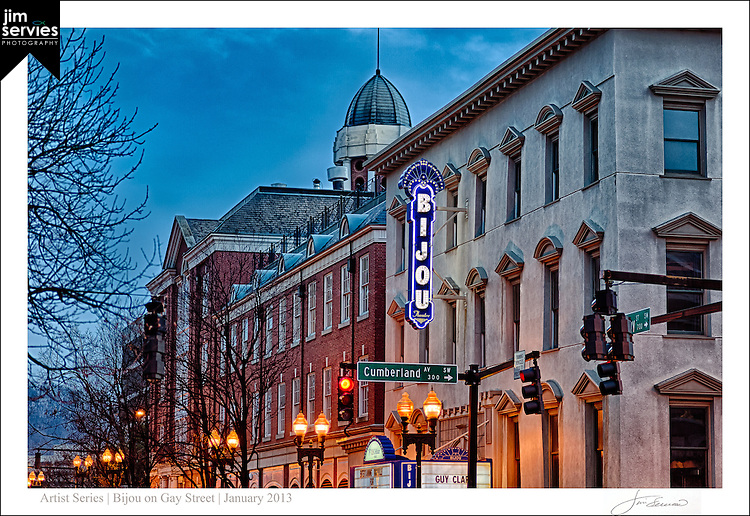 Bijou on Gay Street Knoxville, TN by Jim Servies Photography