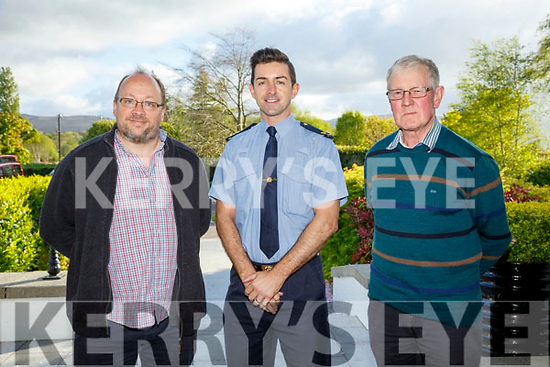 Kerry Garda Divisional community alert, Neighbourhood Watch and Text Alert meeting at Ballygarry House Hotel on Monday Lispole Community alert text Group Tim Medley, Garda Aidan O'Mahony and Sean Fitzgerald