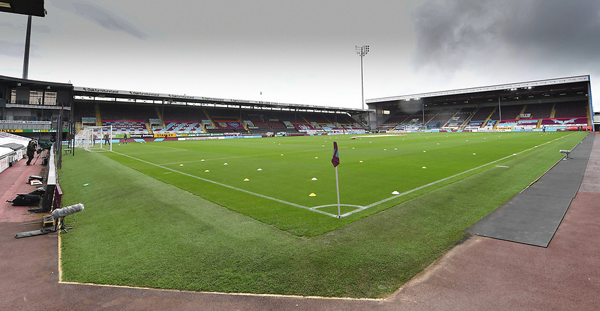 A general view of Turf Moor, home of Burnley<br /> <br /> Photographer Dave Howarth/CameraSport<br /> <br /> The Premier League - Burnley v Brighton & Hove Albion - Sunday 26th July 2020 - Turf Moor - Burnley<br /> <br /> World Copyright © 2020 CameraSport. All rights reserved. 43 Linden Ave. Countesthorpe. Leicester. England. LE8 5PG - Tel: +44 (0) 116 277 4147 - admin@camerasport.com - www.camerasport.com