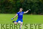 Annascau's Eamonn Hickson in action against Knocknagoshel in the Kerry Junior Club Championship round 1 game on Sunday.