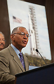 NASA Administrator Charles Bolden speaks about the design of a new Space Launch System during a press conference, Wednesday, September 14, 2011, at the Dirksen Senate Office Building on Capitol Hill in Washington. The new system will take the agency's astronauts farther into space than ever before, create high-quality jobs here at home, and provide the cornerstone for America's future human space exploration efforts. .Mandatory Credit: Paul E. Alers / NASA via CNP