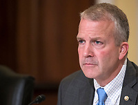 United States Senator Dan Sullivan (Republican of Alaska) hears testimony before the United States Senate Committee on Armed Services Subcommittee on Readiness and Management Support during a hearing titled &quot;US Air Force Readiness&quot; on Capitol Hill in Washington, DC on Wednesday, October 10, 2018.<br /> CAP/MPI/RS<br /> &copy;RS/MPI/Capital Pictures