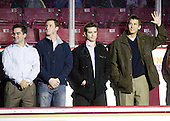 Justin Murphy, Matt Greene, Pat Gannon and Joe Adams are all members of the 2008 National Championship team. - The Boston College Eagles defeated the visiting Merrimack College Warriors 3-2 on Friday, October 29, 2010, at Conte Forum in Chestnut Hill, Massachusetts.