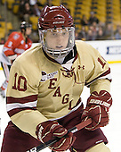 Danny Linell (BC - 10) - The Boston College Eagles defeated the Northeastern University Huskies 7-1 in the opening round of the 2012 Beanpot on Monday, February 6, 2012, at TD Garden in Boston, Massachusetts.