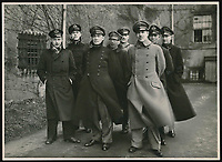 BNPS.co.uk (01202 558833)<br /> Pic: Warwick&Warwick/BNPS<br /> <br /> Spot the dummy (forth left) - One image is of a dummy they would hold up to trick the German guards into believing the escaper was still with them during parade head counts.<br /> <br /> A remarkable archive of photos which provide a glimpse inside the infamous Colditz Castle has come to light.<br /> <br /> The photos show the ingenuity of the Allied POWs who devised ever-bolder ways to escape from the German stronghold during World War Two.<br /> <br /> The photos were taken by the official Colditz photographer Johannes Lange, who was employed by the German Army to take pictures of failed Allied escape attempts. They were then distributed to other POW camps to alert the guards to the methods the inmates were using in their bids for freedom.<br /> <br /> The archive is being sold by a private collector with auctioneer Warwick & Warwick, with an estimate of £1,750.