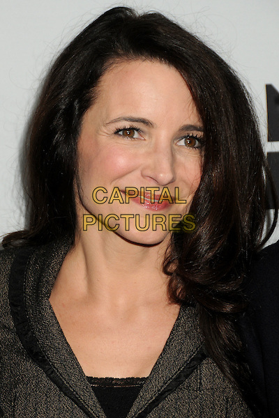"KRISTIN DAVIS .Oxfam America and Esquire House LA Host ""The Oxfam Party"" held at Esquire House LA, Los Angeles, California, USA, .18th November 2010..portrait headshot make-up brown grey gray jacket wool tweed beauty .CAP/ADM/BP.©Byron Purvis/AdMedia/Capital Pictures."