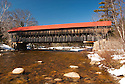 Albany Covered Bridge, 120 feet of weathered beauty, spans the Swift River near Conway off the Kancamagus Highway in New Hampshire's scenic White Mountains.