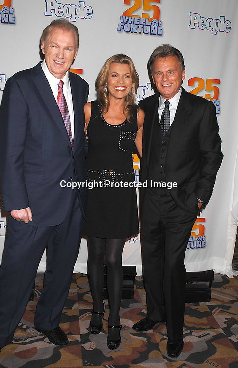 "Roger King, Vanna White and Pat Sajak ..at The 25th Anniversary party for ""Wheel of Fortune"" ..on September 27, 2007 at Radio City Music Hall, where they will tape 3  weeks of shows.....photo by Robin Platzer, Twin Images....212-935-0770"